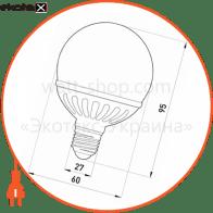 лампа світлодіодна e.save.led.g60c.e27.5,5.4200 керамічна, тип куля, 5,5вт, 4200к, е27 светодиодные лампы enext Enext l0650201