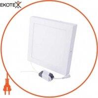 Светильник светодиодный накладной e.LED.MP.Square.S.24.4500, квадрат, 24Вт, 4500К, 1680Лм