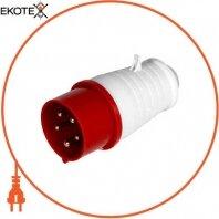 Силовая вилка переносная e.plug.pro.5.16, 5п., 380В, 16А (015)