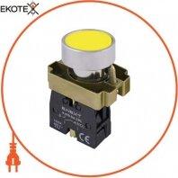 Кнопка без подсветки плоская e.mb.ba51 желтая, без фиксации, 1NO
