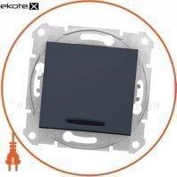 Sedna Переключатель 1 полюсный двунаправленный с 16AX индикатором, без рамки графит