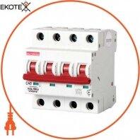 Модульный автоматический выключатель e.industrial.mcb.100.4. C40, 4 Р, 40А, C, 10кА