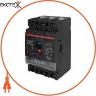 Силовой автоматический выключатель e.industrial.ukm.125Re.100 с электронным расцепителем, 3р, 100А