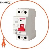 Выключатель дифференциального тока e.rccb.pro.2.25.100, 2р, 25А, 100мА