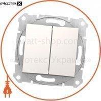 Sedna Переключатель двойной двунаправленный, 10AX, без рамки кремовый