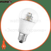 Светодиодная лампа 10W 60W 220V Е27 LED SUPERSTAR CLASSIC A OSRAM теплый белый диммируемая 230° прозрачная