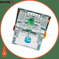 Встраиваемый светильник Feron CD2815 прозрачный хром 28244