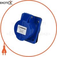 Розетка силовая встроенная ENERGIO 413(2P+PE) 16A 220В IP44