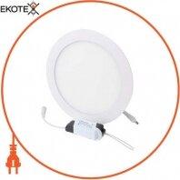 Світильник светодиодний встраив. e.LED.MP.Round.R.18.4500, коло, 18Вт, 4500К, 1260Лм