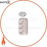 Удлинитель 3 входов 3 метра без с/з 10А/250V 2500W ELCOR