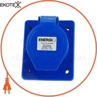 Розетка силовая встроенная ENERGIO 423(2P+PE) 32A 220В IP44