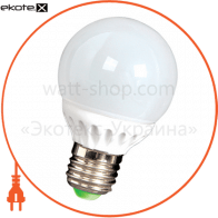 Лампа светодиодная e.save.LED.G60C.E27.5,5.4200 керамическая, тип шар, 5,5Вт, 4200К, Е27