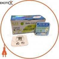 "Оксид-серебряно-цинковая батарейка Seizaiken ""таблетка"" 335 / SR512SW 1шт / уп"