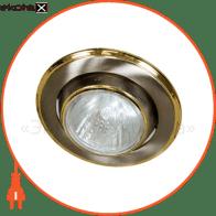 Встраиваемый светильник Feron 301 R-50 титан золото 17510