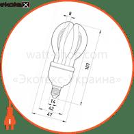 лампа енергозберігаюча e.save.flower.e14.11.6400, тип flower, патрон е14, 11w, 6400 к энергосберегающие лампы enext Enext l0320003