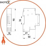 Enext i0310008 реле времени электромеханическое 18мм e.control.t03