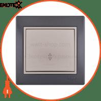 Выключатель проходной 701-2930-105 Цвет Темно-серый/Жемчужно-белый металлик 10АХ 250V~