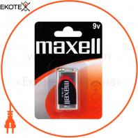 Солевая батарейка Maxell 9V/F22 Крона 1шт/уп blister