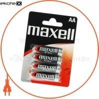 Солевая батарейка Maxell AA/R6 4шт/уп blister
