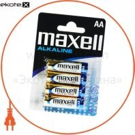 Щелочная батарейка Maxell Super Alkaline AA/LR6 4шт/уп  blister
