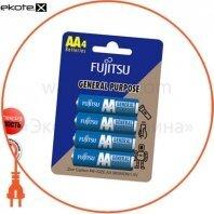 Солевая батарейка FUJITSU АА/R6 4шт/уп blister