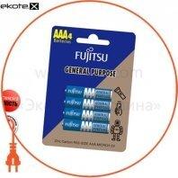 Солевая батарейка FUJITSU ААА/R03 4шт/уп blister