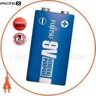 Солевая батарейка FUJITSU 9V/6F22 1шт/уп shrink