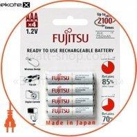 Аккумулятор FUJITSU WHITE Ni-Mh ААА/R03 4шт/уп blister