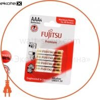 Щелочная батарейка FUJITSU Alkaline Premium ААА/LR03 4шт/уп blister