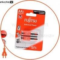 Щелочная батарейка FUJITSU Alkaline Universal Power  АА/LR6 2шт/уп blister