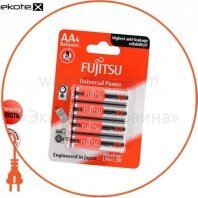 Щелочная батарейка FUJITSU Alkaline Universal Power  АА/LR6 4шт/уп blister