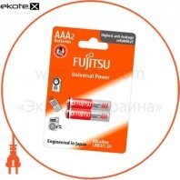 Щелочная батарейка FUJITSU Alkaline Universal Power  ААA/LR03 2шт/уп blister
