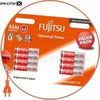 Щелочная батарейка FUJITSU Alkaline Universal Power  ААА/LR03 8шт/уп blister