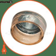Встраиваемый светильник Feron CD2720 янтарный хром 28184