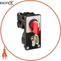 cam stepping switch - 1-pole - 60 ° - 12 A - front mounting - red handle