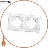 Рамка 2-секционная WEGA 9302 белая