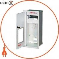 Шкаф распределительный e.mbox.RW-1-P-Z/О мет. встраиваемый, 1-ф. счетчик,6 мод. замком окном, 395х175х165 мм