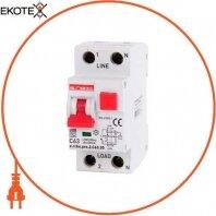 Выключатель дифференциального тока с защитой от сверхтоков e.rcbo.pro.2.C63.30, 1P+N, 63А, С, тип А, 30мА