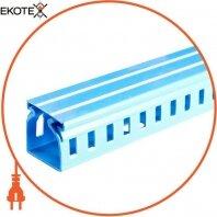 Короб пластиковый перфорированный e.trunking.perf.stand.25.60, 25х60мм, голубой 2м