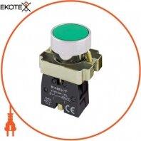 Кнопка без подсветки плоская e.mb.ba31 зеленая, без фиксации, 1NO