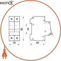 Enext p008011 выключатель нагрузки на din-рейку e.is.2.63, 2р, 63а