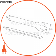 p0470019 Enext изолированный инструмент ключ ізольований ріжковий e.insulating.open.wrench.40119, 19мм