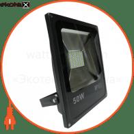 LED Прожектор 50W 6500К черний