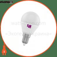Лампа светодиодная шар PA10 6W E14 3000K алюмопласт. корп. 18-0092