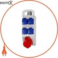 Монтажный набор 16А 3Р+N+Z 400V 4x16 2P+Z 250V