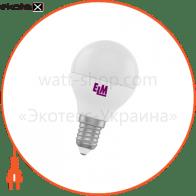 Лампа светодиодная шар PA10L 5W E14 3000K алюмопласт. корп. 18-0072