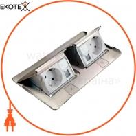 Люк для установки в пол или стол, 6 модулей, нержавеющая сталь, 54022 Legrand