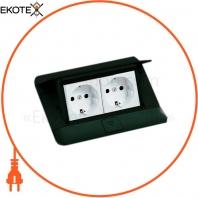 Выдвижной розеточный блок на 4 модуля, черный, 54026 Legrand