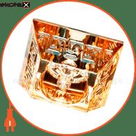 Встраиваемый светильник Feron CD2718 янтарный хром 28176