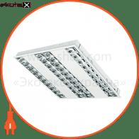 Растровый светильник  DEDRA T5 DPB KIT 4x14W/830 лампы в комплекте